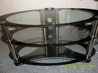 3 tier oval tv stand