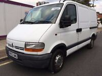 2003 RENAULT MASTER SWB. 2 OWNERS. RECENTLY SERVICED. BRILLIANT DRIVE.BULKHEAD.PLYLINED.ROOF RACK.