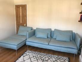 Ikea soderhamn sofa bed and chaise lounge