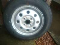 155 sr 13 caravan trailer wheel and tyre