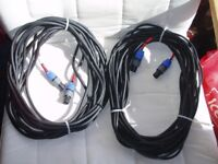 Speaker cables 12 Metre and 10 Metre