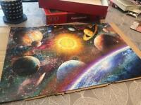 space theme puzzle 500pc