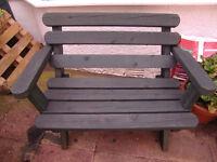 Custom Made Wooden garden Bench