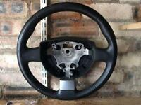 Ford Fiesta mk6 leather chrome steering wheel transit connect