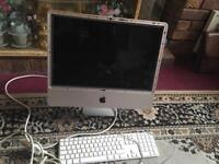 Apple computer screen with apple key board spare and repair £50