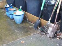 Free garden tools& ceramic pots