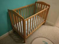 Mothercare Takeley Cot and mattress