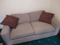 Light brown Marks & Spencer sofa