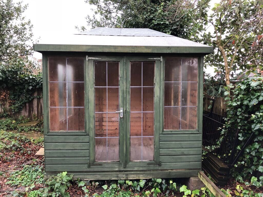 free summer house garden shed 8 x 8 approx collect asap highgate