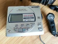 VINTAGE, COLLECTIBLE, SHARP MINIDISC WALKMAN PLAYER RECORDER MD-MT20H