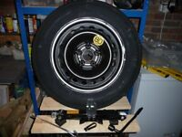 QASHQAI SPACE SAVER WHEEL & TYRE, unused new condition, with jack & tools