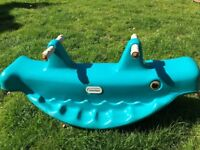 Little Tikes Blue Whale Teeter Totter seesaw