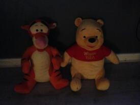 Large Winnie the Pooh and tigger teddy bearS