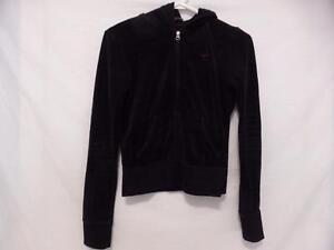 TNA (ARITZIA) size small, black velour zip front exercise, workout, fitness, yoga jacket BNWOT