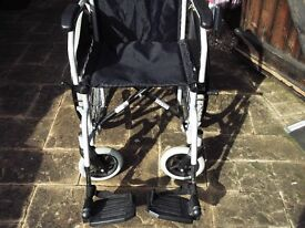 breezy self propelled wheelchair,requires seat pad.great condition.