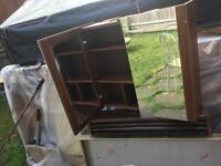 Small Cabinet shelves inside with mirror inside & out side £10