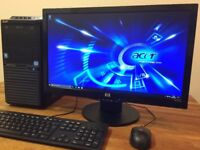 "GAMING PC Acer - i7 3.40Ghz, 8GB, GeForce GTX 550Ti + 22"" HP FULL HD Monitor Desktop PC Computer"