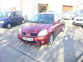 Renault Clio Dynamique 16v 3dr (red) 2005