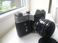 ZENIT E 35MM SLR FILM CAMERA WITH HELIOS 44-2 LENS m42 screw mount