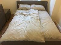 Dwell Stone Gloss King Size Bed