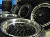 18inch deep dish AXE bbs ALLOY wheels audi golf vw mk4 a3 tt beetle 5x100 subaru