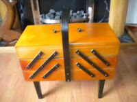 Large vintage sewing box