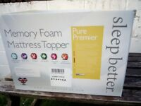 MEMORY FOAM MATTRESS TOPPER KING SIZE BRAND NEW IN BOX