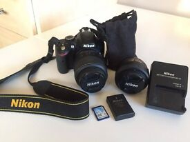 Nikon 3200 24.2MP Digital SLR Camera - Black (Kit w/ AF-S DX 18-55mm and 35mm)