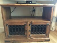 Tv stand - wooden - with cabinets for storage - antique
