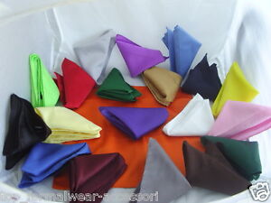 Any-Polyester-Top-Pocket-Hankie-12-x-12-30cm-x-30cm-Squares-P-P2UK-1st-Class