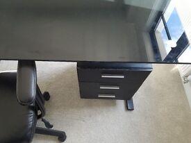Stunning Black Desk/3drawers Bargain@£25