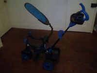 Little Tykes 2014 Trike Blue and black with safety harnes and sides