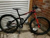 Cube sting mountain bike full suspension 2015/16 model