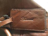 Genuine leather ashwood holdall tan colour never used