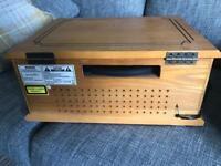 Retro record cd radio player