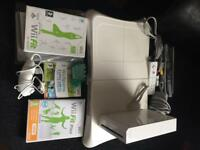 Nintendo wii console and wii fit board