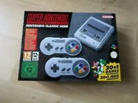 SNES MINI CLASSIC BRAND NEW WITH 200 FANTASTIC GAMES