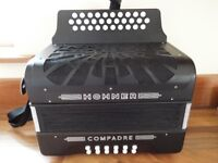 Hohner Compadre 3 Row BC C Sharp 12 Base accordion