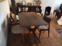 G Plan Retro E Gomme Dining Room Table X Frame 4 Butterfly