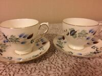 two matching colclough cups and saucers