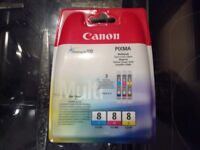 Canon CLI-8 C/ M/ Y Original Colour Ink Cartridge 3 Pack