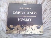 Lord of the Rings and The Hobbit audiobook CD box set, collectable
