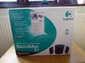 SPEAKERS - LOGITECH SOUNDMAN X1