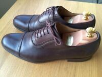 Luxurious Gucci brown brogue mens leather lace-up formal shoes, 43 / uk9, RRP €700, priced to sell
