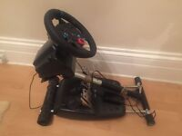 Logitech G29 steering wheel, pedals, gear shift and stand (ps4, ps3, pc) + Wheel Stand Pro