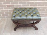 Vintage Chesterfield Footstool (UK Safe Delivery)