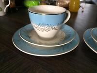Cups, saucers & side plates x2