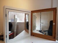 Ikea Bathroom units 1x White; 1x Natural Wood