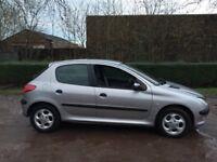 Peugeot 206 1.6 GLX 51 reg 12 months mot alloys cd autochanger low insurance 40+ mpg