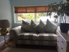 2 seater striped sofa - Great condition